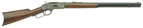"""Taylor's 1873 Lever .45LC 20"""" Octagon, Walnut Straight Stock, CH Receiver Blued"""