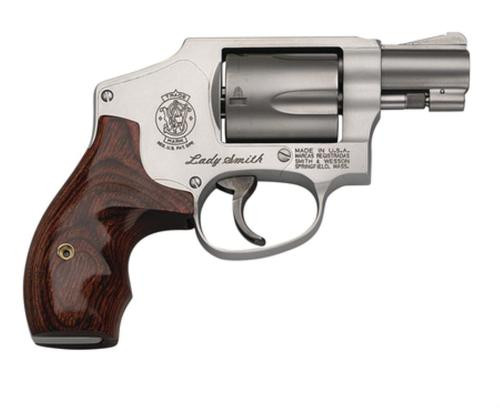 """Smith & Wesson, Model 642 LadySmith, Small Frame Revolver, 38 Special, 1.875"""" Barrel, Alloy Frame, Matte Silver Finish, Wood Grip, Fixed Sights, 5Rd"""