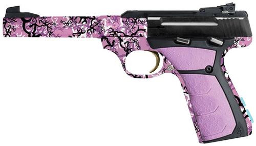 "Browning Buck Mark Buckthorn Pink 22LR 5.5"" Tapered Bull Barrel, Buckthorn Pink Finish, Pink Ultragrip, 10 Rnd Mag"
