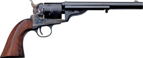 "Uberti 1871 Open Top Early Model Navy Revolver, .38 Special, 4.75"", Walnut/Blued"