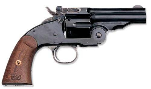 "Uberti 1875 No 3 2nd Model Top Break, .45 Colt, 3.5"", Blued, Walnut Grip"