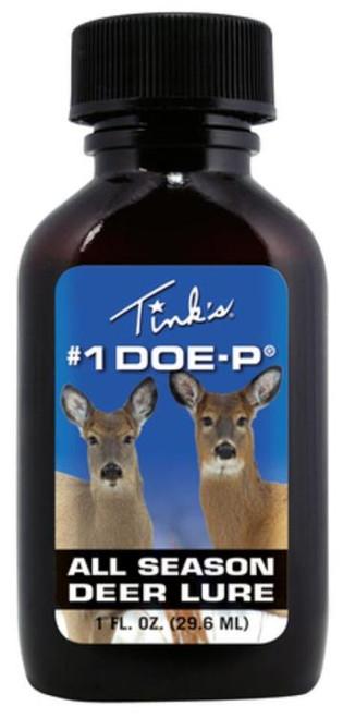 Tinks #1 Doe-P with Mini Bomb Liquid Doe Urine Lure Deer 1 oz