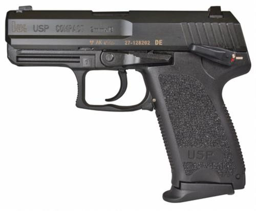 HK USP9 Compact (V1) DA/SA, safety/decocking lever on left, two 13rd magazines