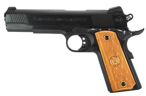 "American Classic II 9mm 5"" Barrel, Hardwood Grip Deep Blued, 9rd"