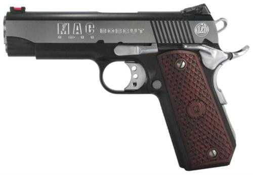 "Metro Arms 1911 Bobcut 45 ACP 4.25"" Barrel Black Chrome Finish Novak-Type Rear Sight Hardwood Grips 8rd Mag"