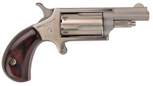 "NAA 22MC 22 Mag, 22LR Cylinder 1.62"" 5rd Rosewood Grip Matte SS"