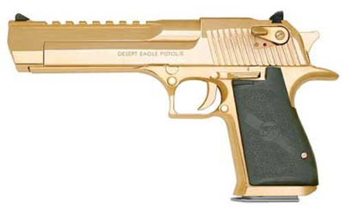 Magnum Research Desert Eagle XIX 50AE, 6 Inch, Gold Finish, 7rds