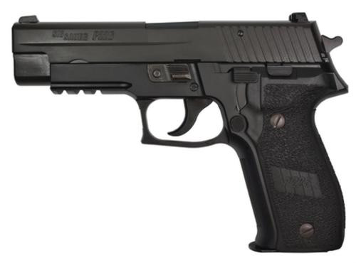 Sig P226 9MM 4.4In Nitron Black Da/Sa Siglite E2 Grip (2) 10Rd Steel MAG CA Compliant