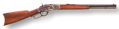 "Cimarron 1873 Short Rifle .45 Long Colt 20"" Octagon Barrel Blue Finish Case Hardened Frame Walnut Stock 10rd"