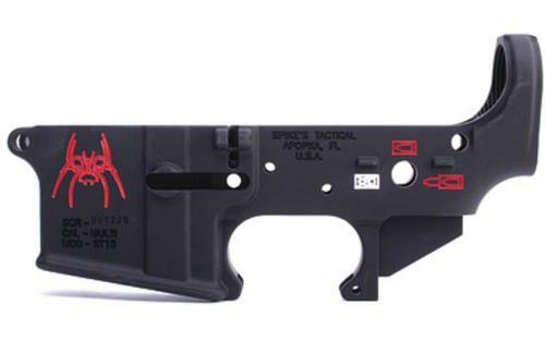 Spike's Spider AR-15 Stripped Lower Black, Color Filled