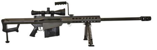 """Barrett 82A1 Rifle System .50 BMG 29"""", Leupold Mk4 4.5-14x50mm Scope, Mounted, Monopod, 10 Rnd Mag"""
