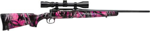"Savage Arms Axis XP Youth Package 7mm-08 Remington 20"" Barrel Matte Black Synthetic Stock Muddy Girl Camouflage Finish 4rds Includes 3-9x40mm Riflescope Mounted"