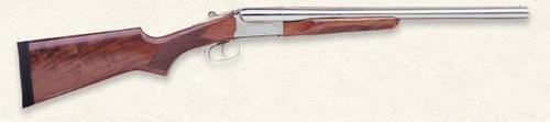 "Stoeger Coach Gun SxS 12 Ga, 20"" Barrel, AA-Grade Gloss Walnut, Polished Nickel"