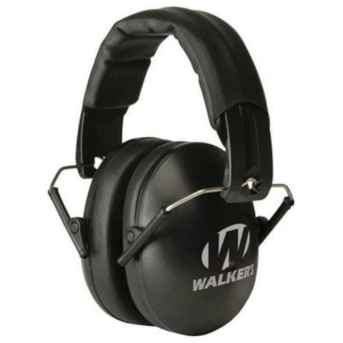 Walkers Game Ear Folding Earmuffs, Youth/Ladies, Black