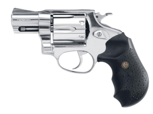 "Rossi Revolver 357 RemMag 2"" 6rd Black Rubber Grip Stainless Steel"