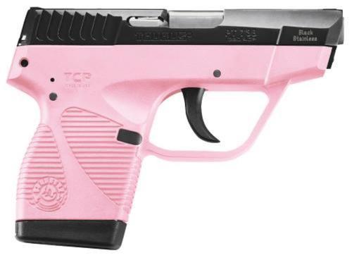 "Taurus 738 TCP, .380 ACP, 3.3"", 6rd, Pink Polymer Frame, Blued Slide"