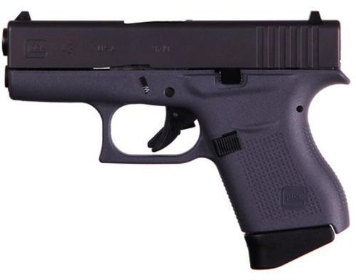 "Glock G43 Gen3, 9mm, 3.39"" Barrel, Gray Frame 6rd Mag"