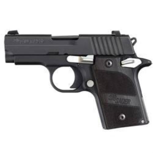 Sig P238 380 ACP 2.7In Nightmare Black SAO Black G10 Grip (1) 6RD Steel MAG