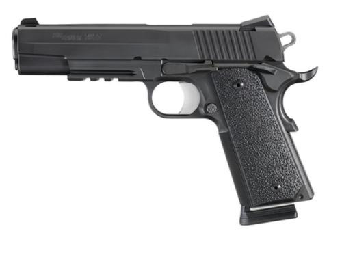Sig 1911 Full Size XO With Rail .357 Sig 5 Barrel Contrast Sights Black Nitron XO Finish Black XT Grips 8rd