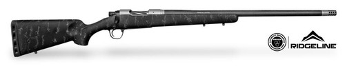 "Christensen Ridgeline 300 Win Mag 26"" Barrel, 1/10 Fiberglass, Carbon Sporter Black, Gray Webbing Stock"