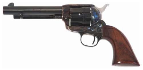"Cimarron Firearms Model P Evil Roy SA .357 Magnum 5.5"" Polished Blue Barrel One Piece Walnut Grip"