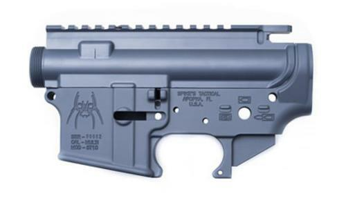 Spikes Stripped Grey Receiver Set Lower / Upper, Matched