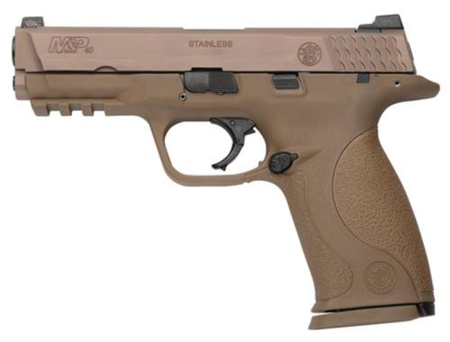 Smith & Wesson S&W M&P40 VTAC Viking Tactics Pistol, 40SW, Dark Earth, Trijicon/Fiber Optic Sights