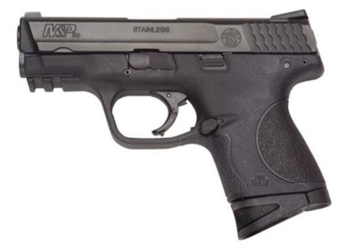 """Smith & Wesson, M&P, Compact, 9mm, Striker Fired, 3.5"""" Barrel, Polymer Frame, Black, Low Profile Carry Sights, 10Rd, 2 Magazines, No Thumb Safety, Magazine Disconnect"""