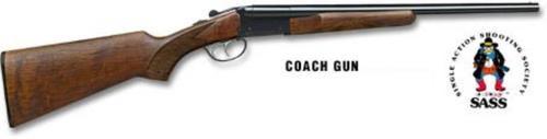 Stoeger Coach Gun SxS, A-Grade Satin Walnut, Blue 12 Ga, 20