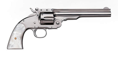 Uberti No. 3 2nd Model Top Break Nickel Finish Pearl Grip .45 Colt 7""