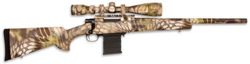 "Legacy Kryptek Full Dip Rifle Package .22-250 Remington 20"" Heavy Barrel 4-16x44mm Nikko Stirling Scope Typhon Camouflage 5rd"