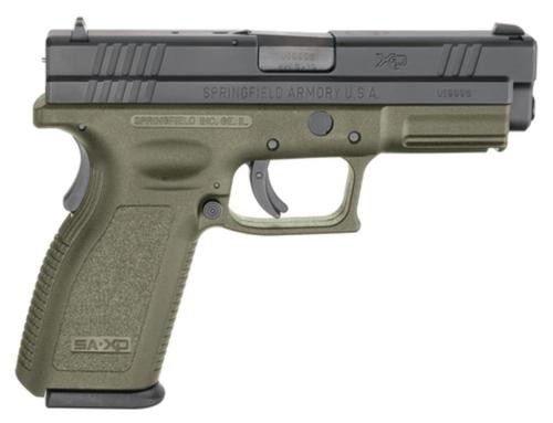 Springfield XD 45 ACP, 4 Inch, OD green, 2006 package, 13rd Mags