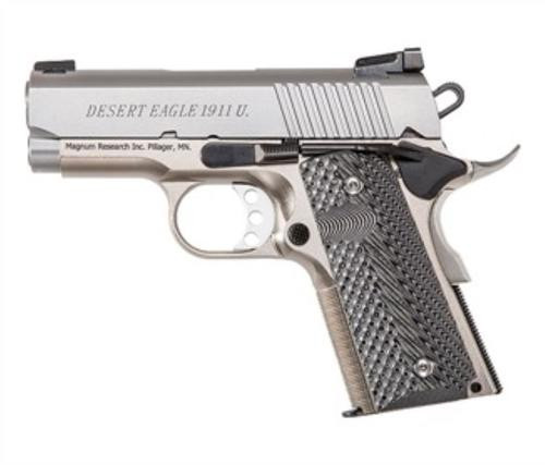 "Magnum Desert Eagle 1911 Undercover Single 45 ACP 3"" Barrel, Wood Grips SS, 6rd"