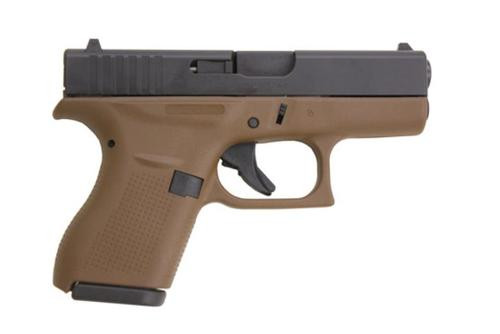 "Glock G42 .380 ACP, 3.25"" Barrel,Flat Dark Earth Frame, 6rd"