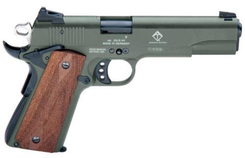 """GSG M1911 HGA .22Lr 5"""" BL Wdgp 10Rd OD Green"""