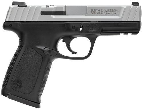 "Smith & Wesson SD VE *MA Compliant* 9mm 4"" Barrel, Black Poly Frame/SS Slide, 10rd"
