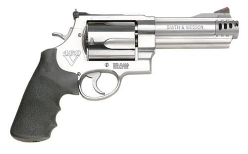 "Smith & Wesson 460XVR 460 S&W, 5"" Barrel,Stainless Steel Frame, Satin Stainless Finish, Adjustable rear Sight, Rubber Grip, 5 Rounds"