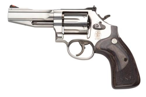 "Smith & Wesson 686 357 Mag, 4"" Barrel, Adjustable Sights, Stainless Steel, 6rd"
