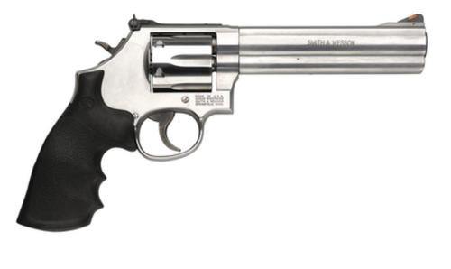 "Smith & Wesson 686 Distinguish Combat 357 Mag/38 Spec 6"" 6rd Adjustable White Outline/Red Ramp SS"
