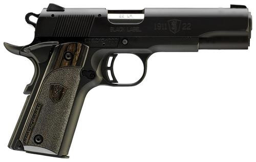 "Browning 1911-22 Compact Black Label 22LR 3.5"" Black Laminate Grip"