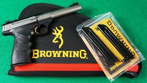 Browning Buck Mark Package 22LR Camper URX S/S 3 Mags & Pistol Rug