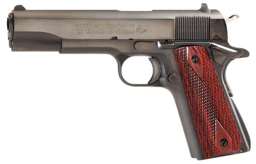 "Colt 1911 Series 70 Govt 45 ACP 5"" Barrel Double Diamond Rosewood Grip 7rd Mag"