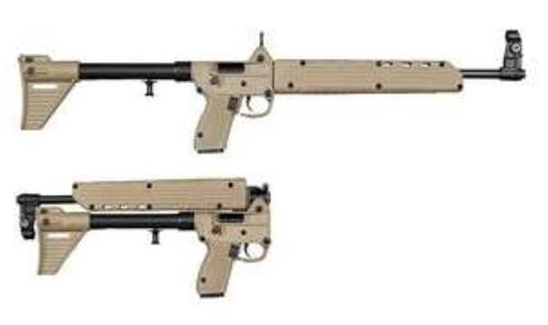 "Kel-Tec SUB-2000 Glock 22 Grip 40 S&W, 16.1"" Barrel, Blued/Tan Synthetic, 15rd"