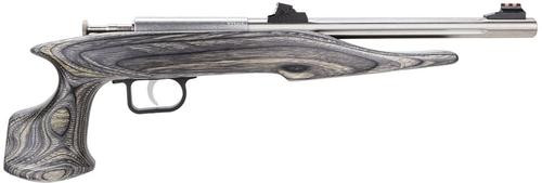 "Keystone Crickett Chipmunk Hunter 22 Mag, 10.5"", 1rd, Black Lam Wood Grip, Stainless"