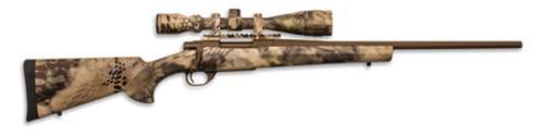 "Howa Hogue Kryptek AB Cerakote Package .22-250 Remington 22"" Standard Barrel Austrian Brown Cerakote Finish Synthetic Stock Kryptek Highlander Camouflage Finish With Gameking 4-16x44mm Riflescope"