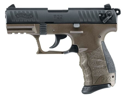 """Walther P22 Military Pistol, 3.42"""", OD Green"""