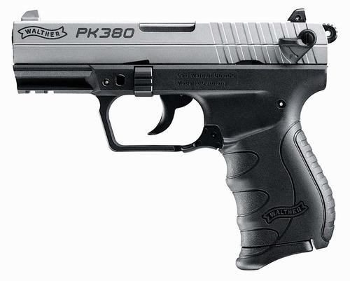 "Walther PK380 .380 ACP Nickel, 3.66"" Barrel, 8rd"
