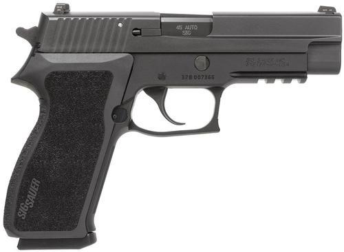 Sig P220 45 ACP 4.4In Nitron Black Da/Sa Siglite E2 Grip (2) 8RD Steel MAG MA Compliant