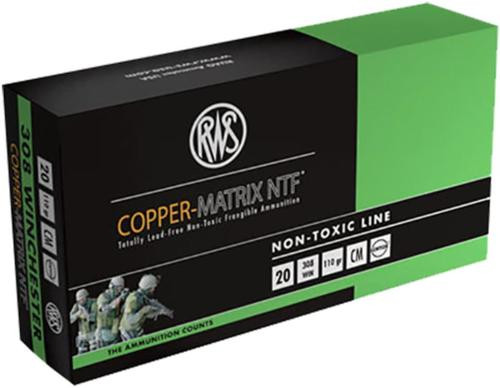 Ruag Ammotec 230840020 Copper Matrix 308Win/7.62 NATO Non Toxic 110GR 20 per Box