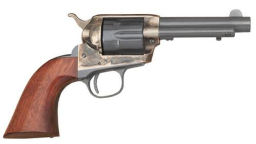 Cimarron Model P Junior Single Action .38 Special 4.75 Inch Barrel Standard Blue Finish Smooth Walnut Grip